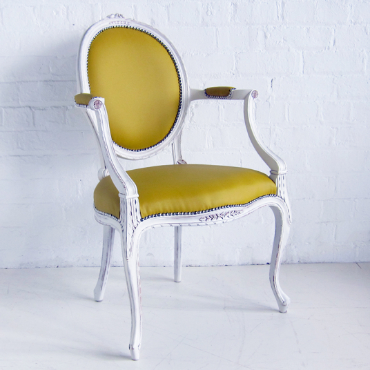 French Oval Armchair Carved Birkdale Designs